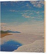 Ocean Beach Wood Print