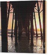Oceanside Pier Tunnel Wood Print