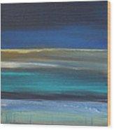 Ocean Blue 2 Wood Print by Linda Woods