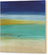 Ocean Blue 3- Art By Linda Woods Wood Print