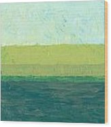 Ocean Blue And Green Wood Print by Michelle Calkins