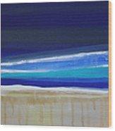 Ocean Blue Wood Print by Linda Woods
