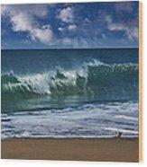 Ocean Blue Morning 2 Wood Print