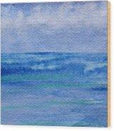 Gentle Ocean Waves -  Original Watercolor Wood Print