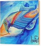 Ocean Blues Solo Wood Print