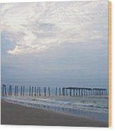 Ocean City At The  59th Street Pier Wood Print