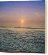 Ocean City Sunrise Wood Print
