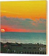Ocean City Sunrise Over Music Pier Wood Print