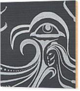 Ocean Eagle Eye Wood Print by A Cyaltsa Finkbonner