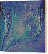 Ocean Flow Energy Wood Print