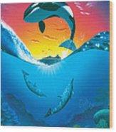 Ocean Freedom Wood Print