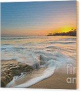 Ocean Glow Wood Print