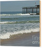 Ocean Grove Fishing Pier Wood Print