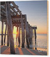 Ocean Grove Pier Sunrise Wood Print