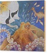 Ocean Hang Out Wood Print