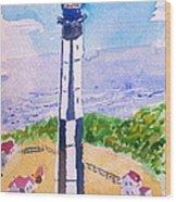 Ocean Lighthouse Wood Print