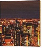Ocean Of Light New York City Usa Wood Print