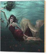 Ocean Of Roses Wood Print