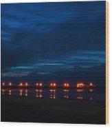 Ocean Pier At Dawn 2 Wood Print
