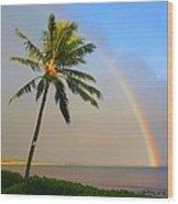 Ocean Rainbow Maui Wood Print