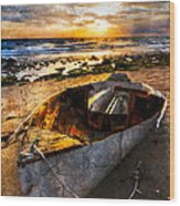 Ocean Salty Wood Print