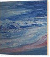 Ocean Shoreline Wood Print