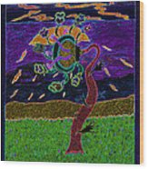 Ocean Side Flower At Sun Set    V3 Wood Print