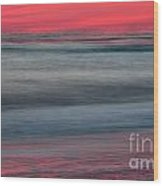 Ocean Smear Wood Print by Janet Moss