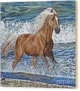 Ocean Stallion Wood Print