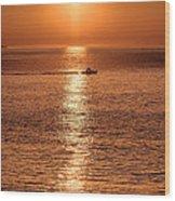 Ocean Sunrise At Montauk Point Wood Print