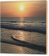 Ocean Sunrise Over Myrtle Beach Wood Print