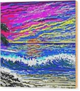 Ocean Sunset Wood Print