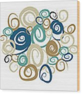 Ocean Swirls Wood Print by Kenneth Feliciano