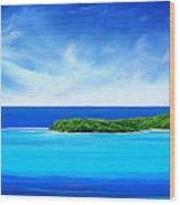 Ocean Tropical Island Wood Print