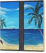 Ocean View Wood Print
