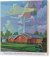 Ocean View Baptist Church Wood Print