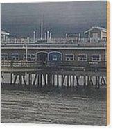 Ocean View Pier Wood Print