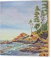 Ocean Witness Wood Print