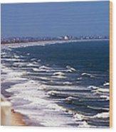 Oceanfront Landscape Wood Print