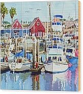 Oceanside California Wood Print by Mary Helmreich