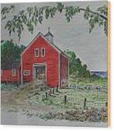 Oceanside Farm Wood Print