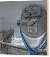 Oceanside Pier California Binocular Vision Wood Print