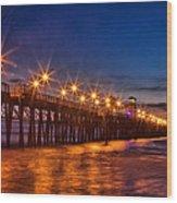 Oceanside Pier Evening Wood Print