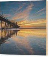 Oceanside Reflections 2 Wood Print