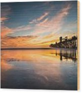 Oceanside Reflections 3 Wood Print