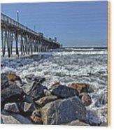 Oceanside Rocks Wood Print