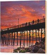 Oceanside Sunset 12 Wood Print