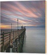 Oceanside Sunset 14 Wood Print