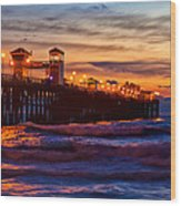 Oceanside Sunset IIi Wood Print