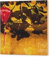 Ochre Wall Silk Lantern 02 Wood Print